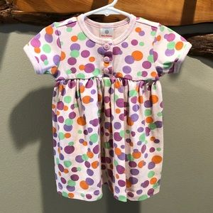 Hanna Andersson pink polkadot dress - 18-24 Month